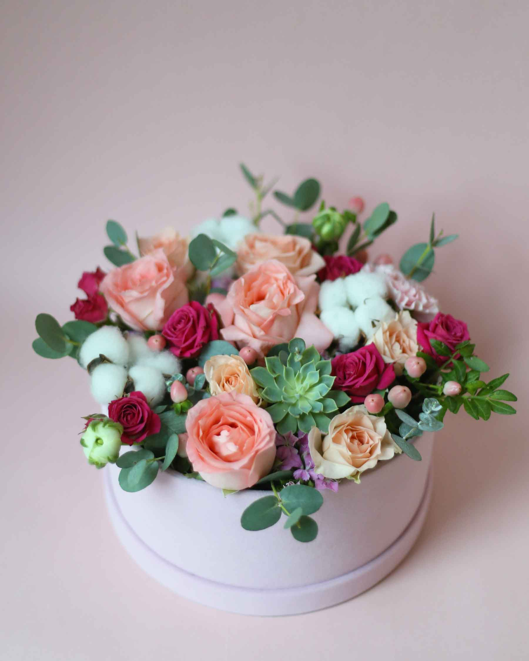 Windflower Boite De Fleur Rose